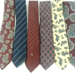 Lot of 7 Christian Dior Men's Ties Silk Multi Colo